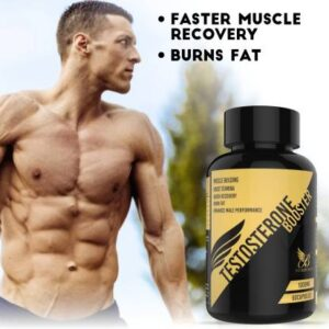 The Physique Avenue Pure Testosterone Booster for Males to Enhance Vitality, Stamina, Endurance 1000 mg - 60 Capsules