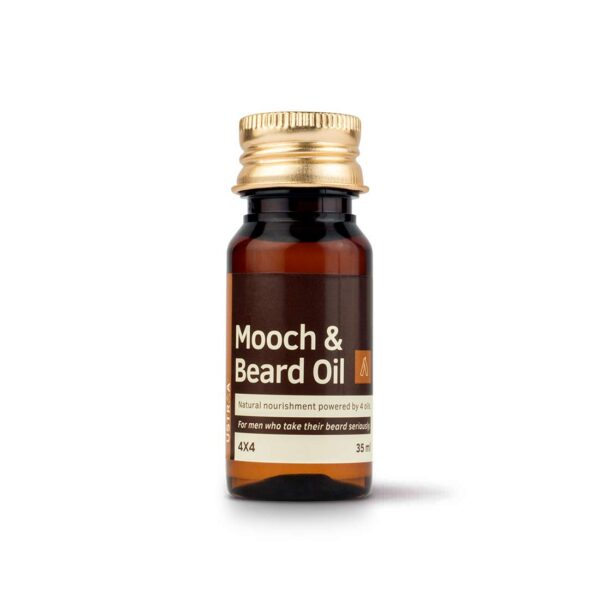 Ustraa Mooch and Beard Oil 4x4 for Beard nourishment and care - 35 ml