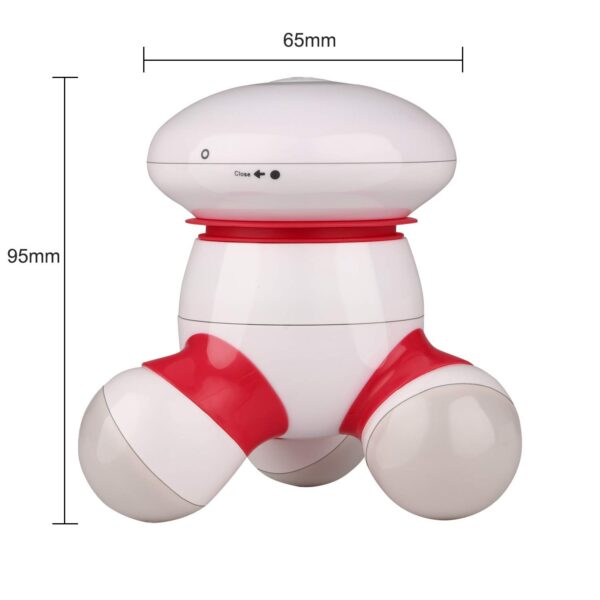 cotsoco Mini Moveable Physique Vibrating Handheld Ache Launch Massager with LED Mild for Hand, Head, Neck, Again, Legs, Arms and Face