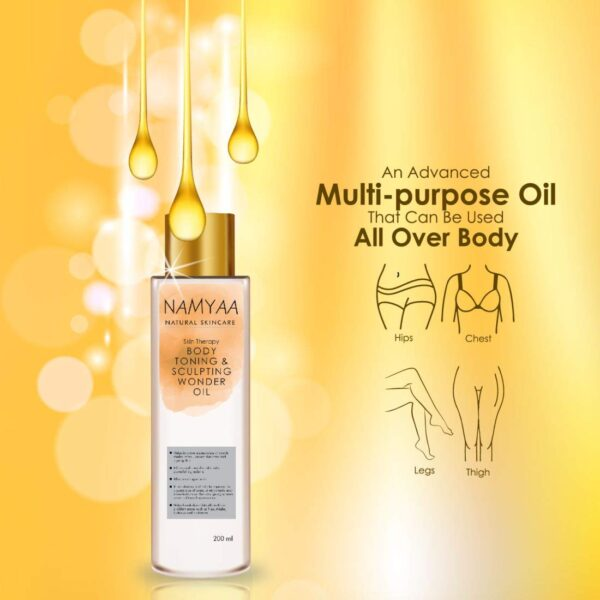 Namyaa Pure Science Physique Firming/Sculpting Surprise Oil For Scars/Stretch Mark/Ageing/Uneven Pores and skin Tone/Firming/Nourishment, 200 ml