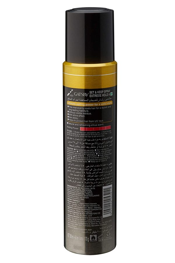 Gatsby Set and Hold Spray Excessive Maintain, 250ml
