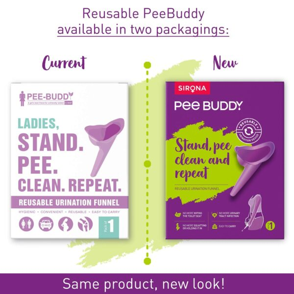 Peebuddy Stand And Pee Reusable Moveable Urinal Funnel For Ladies ( 1 Unit)