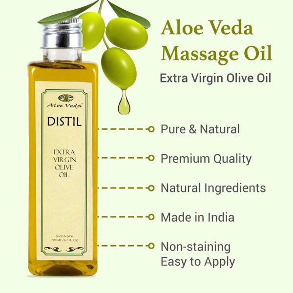 Aloe Veda Additional Virgin Pure Olive Oil for Hair and Pores and skin,200 ml