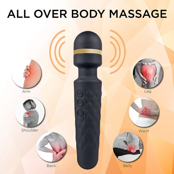 WellNEX Purple Handheld Private Physique Massager Comes with a Bendable Neck | Wand Massager for Males and Ladies | Quiet, Highly effective Motor | Transportable Vibrator & Waterproof Design