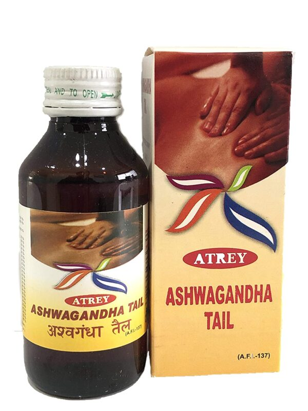 Atrey Ashwagandha Oil For Nervousness Reduction, Stress Assist - 100ml