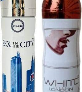St Louis Intercourse in The Metropolis and White London Deodorant Physique Spray 200 ml Every for Males and Girls (400 ml) -Pack of two