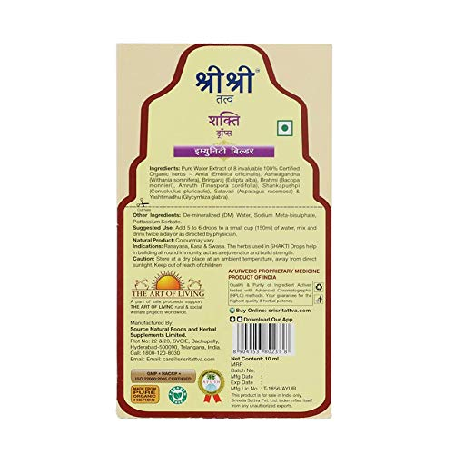Sri Sri Tattva Shakti Drops, 10ml (Pack of four)