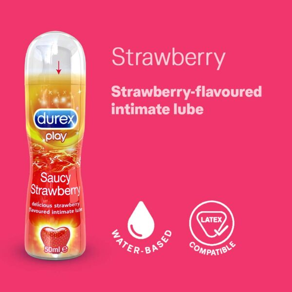 Durex Play Lubricant Gel, Saucy Strawberry - 50 ml