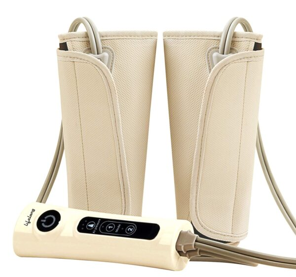 Lifelong LLM18 Air Strain Massager for blood circulation and ache aid of Arms, Leg, Calf and Foot (Brown)