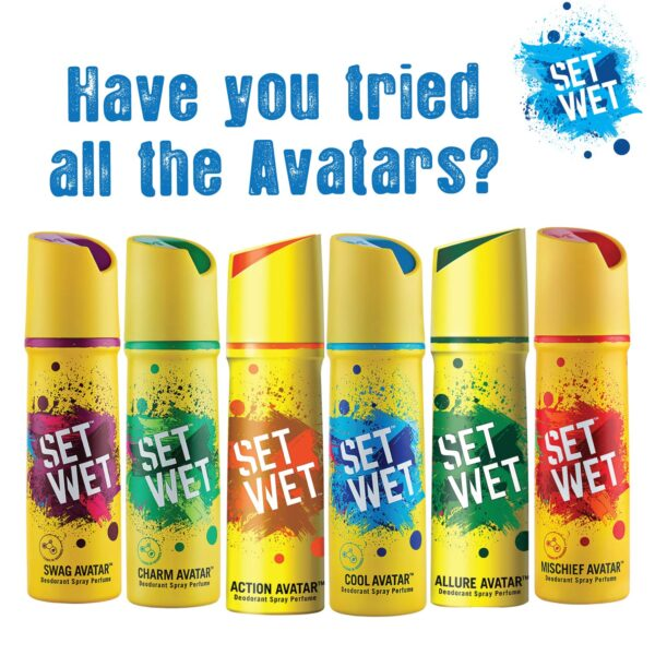 Set Moist Deodorant Spray Fragrance, 150ml (Cool, Attraction and Swag Avatar Pack of three)